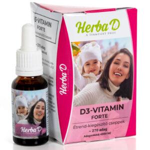 Herba-D D3-vitamin Forte 4000NE csepp - 20ml