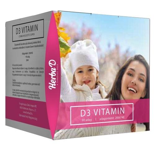 Herba-D D3-vitamin 2000NE csepp (90 napi adag) csepp - 20ml