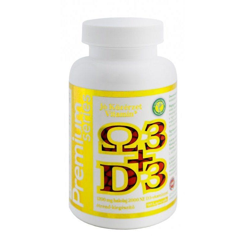 Jó közérzet Prémium Omega3 + D3-vitamin kapszula - 90db