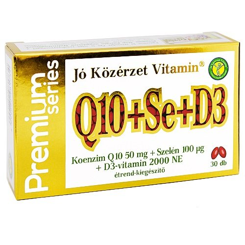 Jó közérzet Prémium Q10+Se+D3 kapszula - 30db