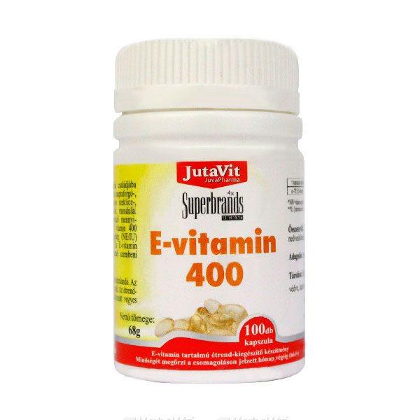 Jutavit E-vitamin 400 IU kapszula - 100db