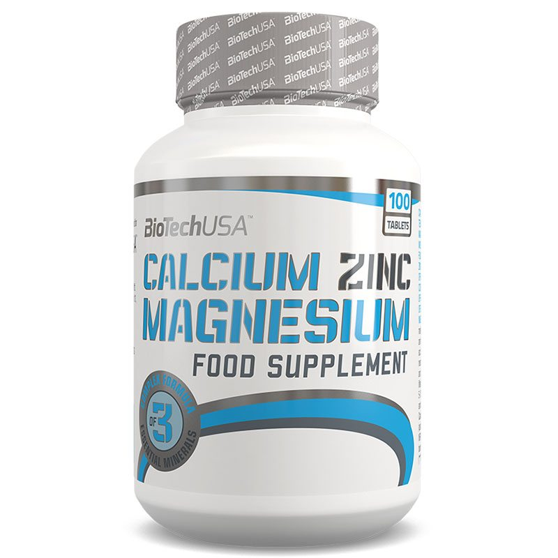 BioTech USA Calcium Zinc Magnesium tabletta - 100db