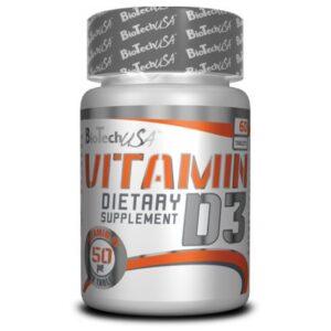 BioTech USA D3-vitamin 50mcg tabletta - 60 db