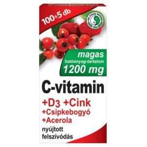 Dr. Chen C+D+Cink C-vitamin 1200mg + D3-vitamin 800NE tabletta – 105db