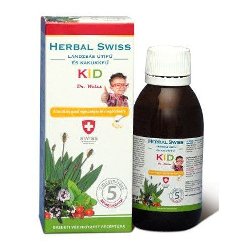 Herbal Swiss Kid köhögés elleni szirup - 150ml