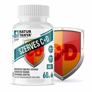 Natur Tanya Szerves C+D C-vitamin 1000mg + D-vitamin 2000NE tabletta - 60db