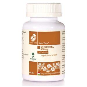 Natur Tanya Szerves Kurkuma + E-vitamin tabletta - 60 db