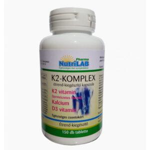 Nutrilab K2-Komplex tabletta - 150db