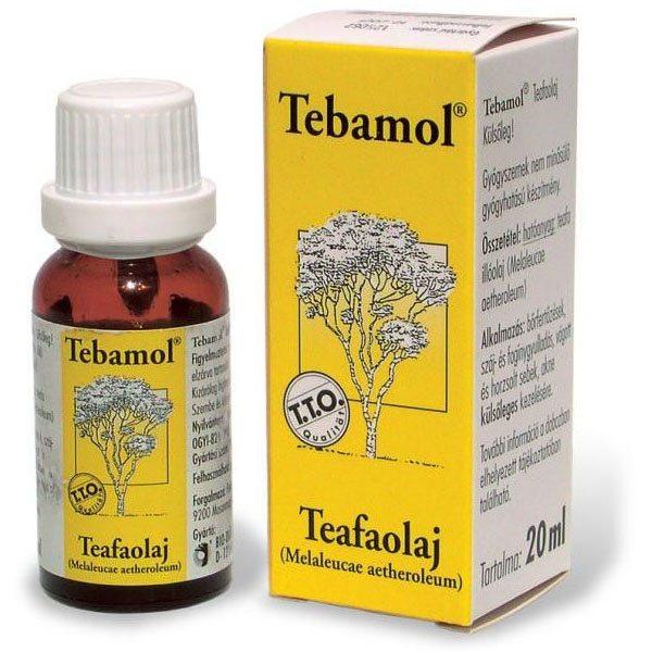 Tebamol Teafaolaj - Az egyetlen valóban gyógyhatású teafaolaj - 20ml