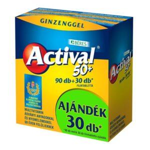 Béres Actival 50+ multivitamin 90db+30db ajándék! - 90+30 db tabletta