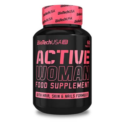 BioTech USA Active Woman multivitamin tabletta - 60 db
