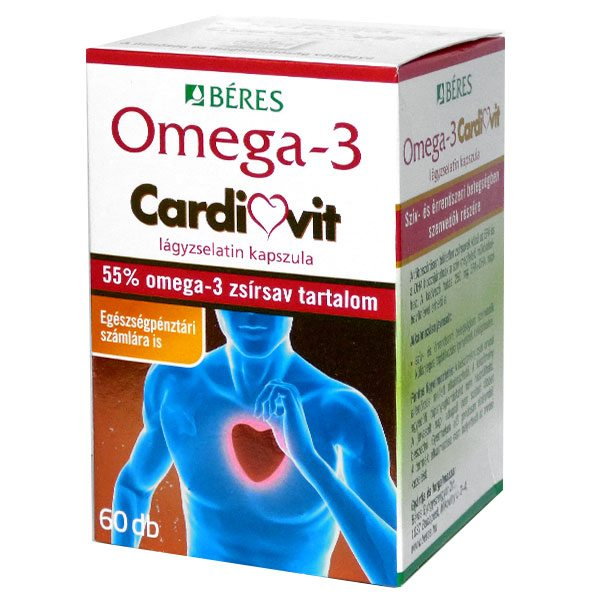 Béres Omega-3 Cardiovit lágyzselatin kapszula - 60db