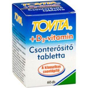 Tovita Csonterősítő + D3-vitamin tabletta - 60db