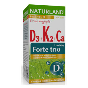 Naturland D3-vitamin + K2-vitamin + Kalcium forte trió tabletta – 30db