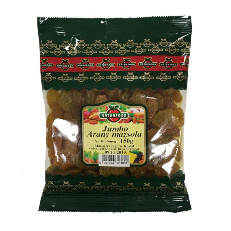 Naturfood jumbo arany mazsola - 150g