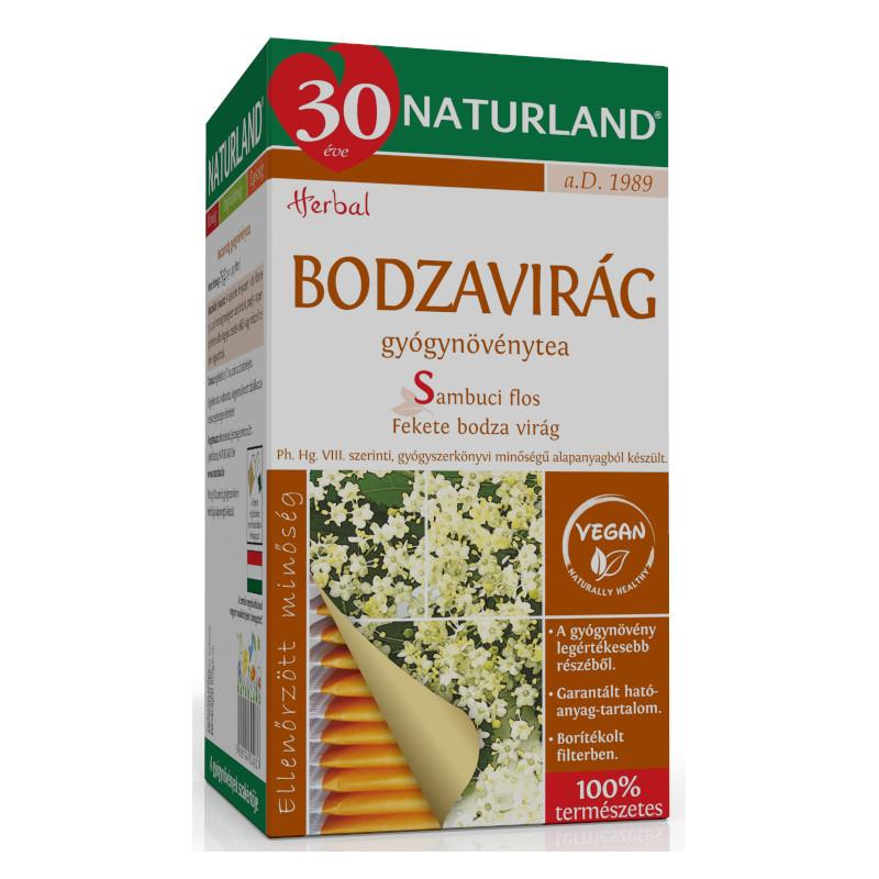Naturland bodzavirág tea - 25 filter/doboz