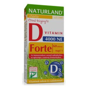 Naturland D-vitamin forte tabletta – 60db