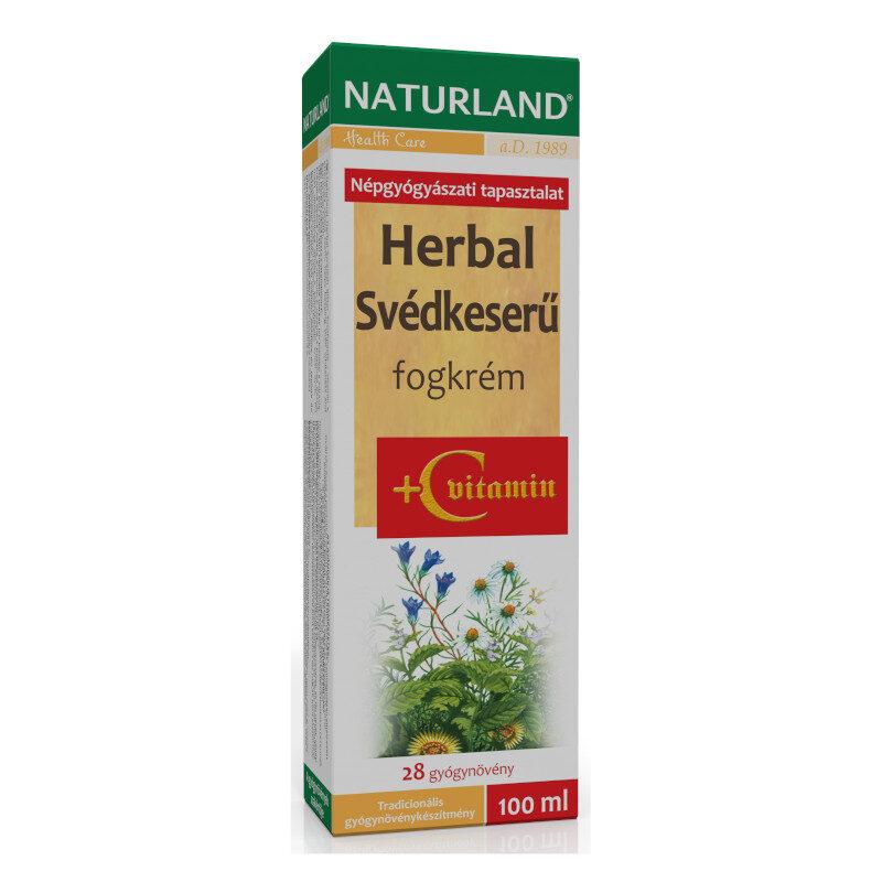 Naturland Herbal Svédkeserű + C-vitamin fogkrém – 100 ml