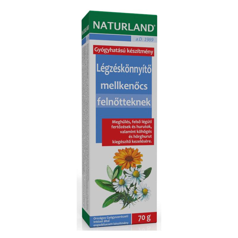 Naturland légzéskönnyítő mellkenőcs felnőtteknek – 70 g