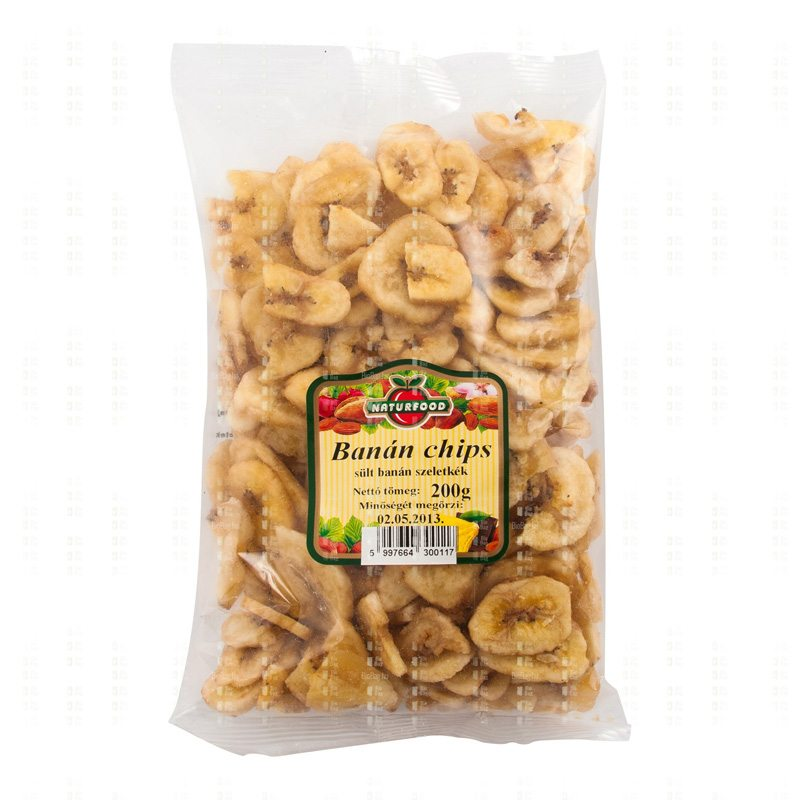 Naturfood Banán chips - 200 g