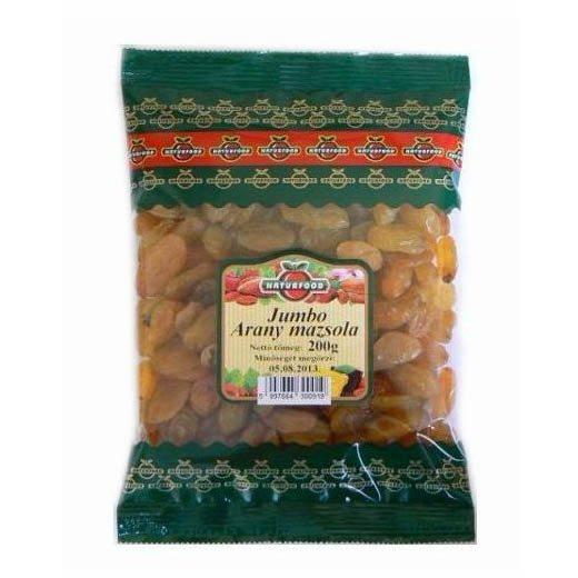 Naturfood jumbo arany mazsola - 200 g