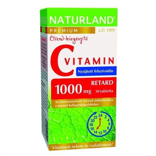 Naturland C-vitamin 1000mg Retard tabletta - 30db