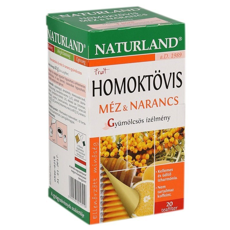 Naturland homoktövis méz-narancs tea - 20 filter