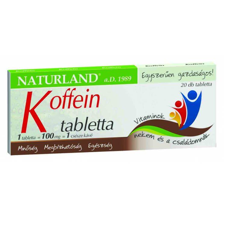 Naturland koffein tabletta - 20db