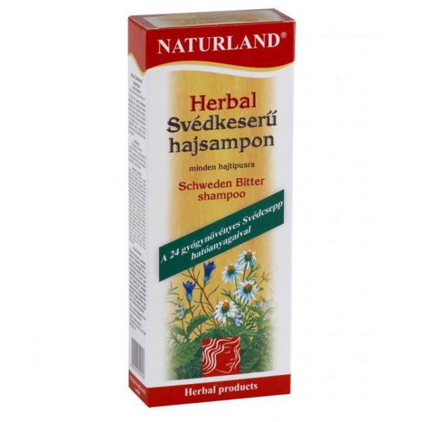 Naturland Herbal Svédkeserű sampon - 180 ml