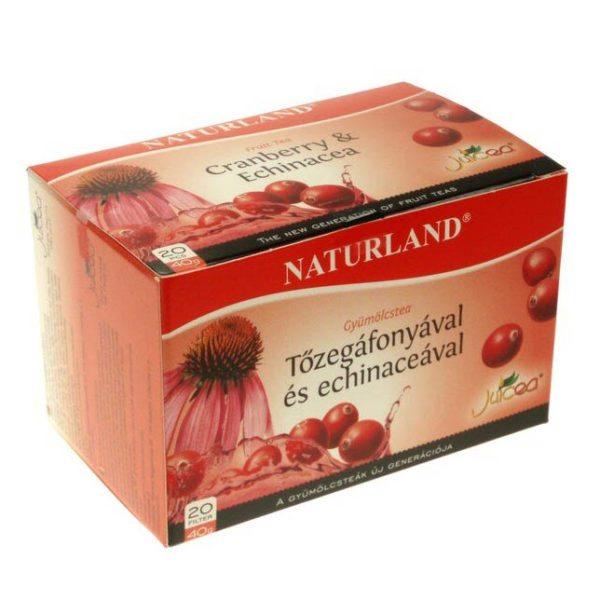 Naturland tőzegáfonya-echinacea gyümölcstea - 20 filter/doboz