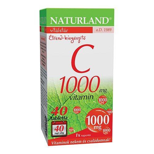 Naturland C-vitamin tabletta - 40db