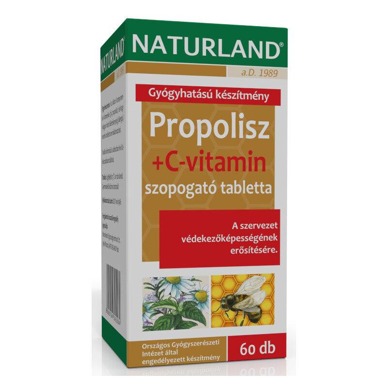 Naturland Propolisz + C-vitamin tabletta - 60 db
