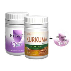 Vita Crystal Complex Rheumato kapszula + krém + Kurkuma kapszula -