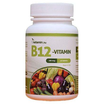 Netamin B12-vitamin tabletta - 120db