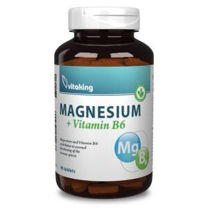 Vitaking Magnézium + B6-vitamin tabletta – 90db