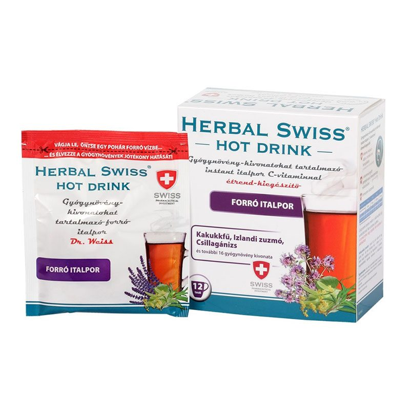 Herbal Swiss Hot Drink Instant italpor - 12db