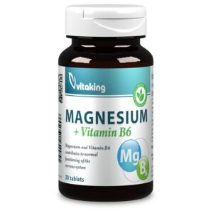 Vitaking magnesium citrate 150mg b6 vitamin - 30db