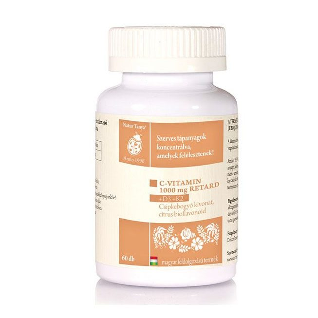 Natur Tanya Szerves C+D+K2-vitamin tabletta - 60db