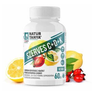 Natur Tanya Szerves C+D+K2 C-vitamin 1000mg + D3-vitamin 2000NE tabletta - 60db