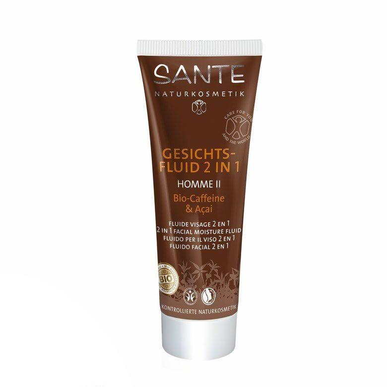 Sante Homme II férfi Hidratáló szérum 2 az 1-ben bio koffein és acai bogyó kivonattal - 50 ml