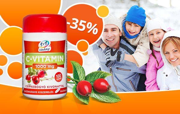 1x1 Vitaday C-vitamin -35% kedvezménnyel!