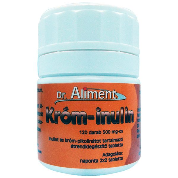 Dr. Aliment króm-inulin tabletta - 120 db