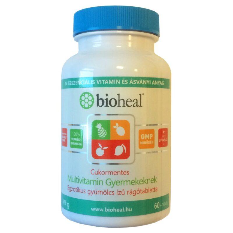 Bioheal Cukormentes Multivitamin gyerekeknek - 70db
