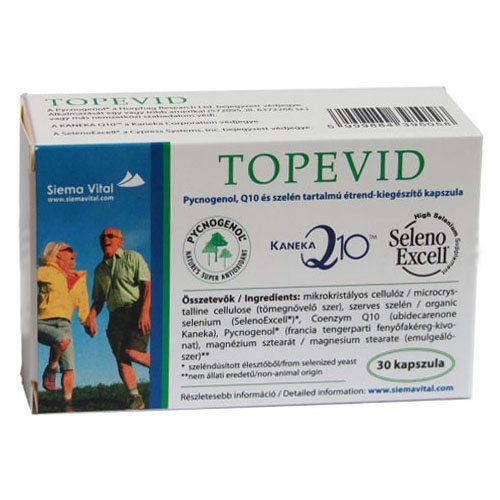 Topevid Q10 + Szelén + Pycnogenol kapszula - 30db