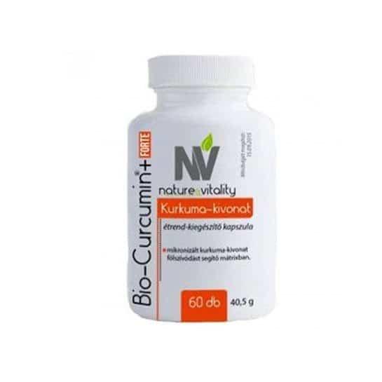 Nature & Vitality Bio Curcumin+ Forte kapszula - 30db