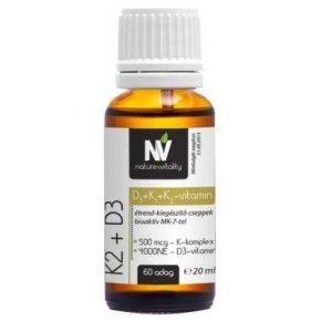 Nature & Vitality K-vitamin komplex + D3 4000 NE Forte cseppek - 20ml