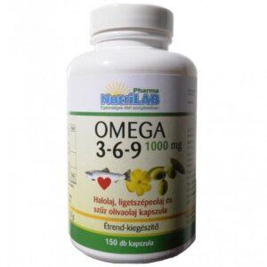 Nutrilab Omega 3-6-9 1000 mg kapszula – 150db