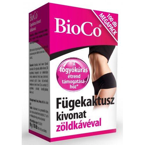BioCo Fügekaktusz kivonat zöldkávéval MEGAPACK - 100db