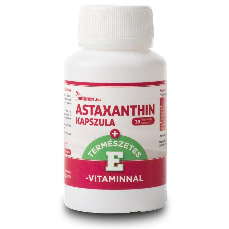 Netamin Astaxanthin kapszula természetes E-vitaminnal kapszula - 30db