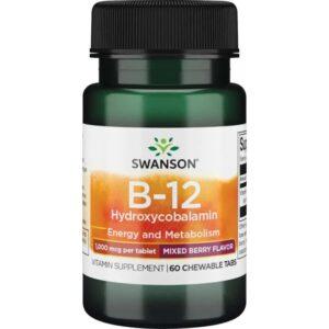 Swanson B12-vitamin tabletta - 60db